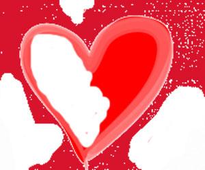 Love heart empty