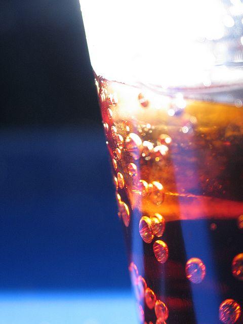 dark drink glass light