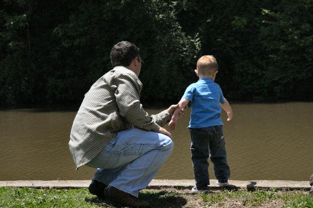 father-son-lake