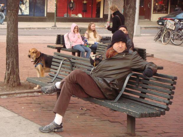 Suspense-Short-Story-man-overcoat-bench