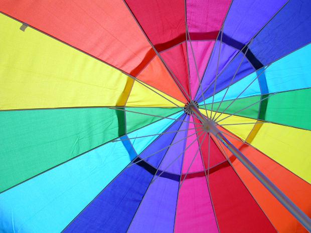 colorful rainbow umbrella gay lesbian homosexual symbol