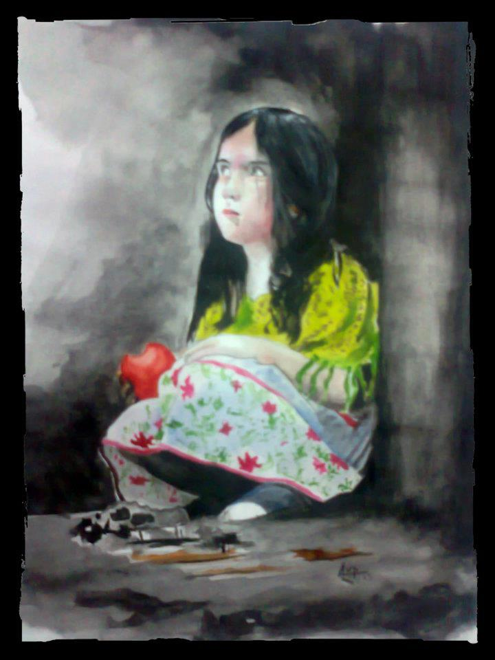 little-cute-girl-apple